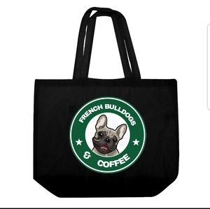 Tops - French Bulldogs and Coffee Tote